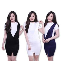 PROMO! [High Quality Scuba] Everose Dungaree Skirt Overall Pakaian Wanita - Available in 4 Colors