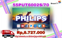 PHILIPS 55PUT6002S LED SMART TV UHD (55 Inch) Free Polo Shirt FREE DELIVERY JADEBEK