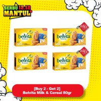 [Buy 2 - Get 2] Belvita Milk & Cereal 80gr