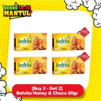 [Buy 2 - Get 2] Belvita Honey & Choco 80gr
