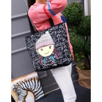 TC20 Black Canvas Tote Bag / Tas Selempang
