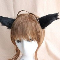 ACC RAMBUT 02691Cr Cat Ears Cosplay Hairclips Black