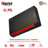Sniper PowerShoot S111371 10000mAh - Powerbank Flight Friendly