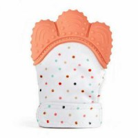 Sunday Baby Food Grade Silicone Teether Mitt - Raspberry Kiss