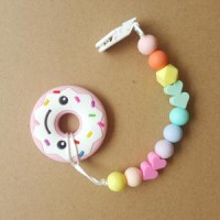 Bright Chewelry Teether - Cutes Donut Pink