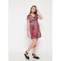 The - Fahrenheit Alberta Bhatique  Short Sleeve Dress