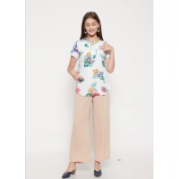 The - Fahrenheit Afton Flower Women Blouse - White