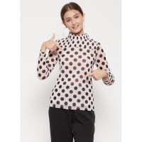 The - Fahrenheit Alaina Polkadot Long Sleeve Blouse - Pink