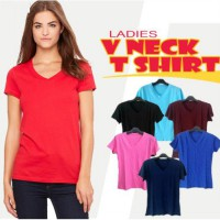 V-neck  women t-shirt