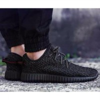 Adidas Yeezy Yezzy Boost Pirate Black Hitam Import Quality