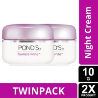 TWIN PACK - PONDS FLAWLESS WHITE NIGHT CREAM 10G-y