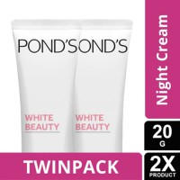 TWIN PACK - PONDS WHITE BEAUTY NIGHT CREAM 20G-y
