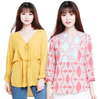 NOTB+HMB Women collar/tunic blouse