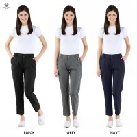 Best Seller / Woman Fashion / Celana Wanita / Celana Kantor / Wooven Worker Pants / Avail Size / 3 Warna / Wooven Polyster / Good Quality!