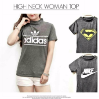 High Neck Woman Top