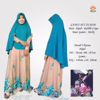 ORLIN GS-047 GAMIS SET KHIMAR BAHAN MISBY ALL SIZE BY INDOHIJAB GROSIR
