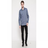 The - Fahrenheit Bolzano Long Sleeves Men Shirt - Navy