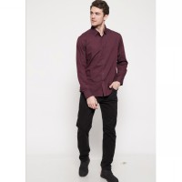The - Fahrenheit Firenze Long Sleeves Men Shirt - Maroon