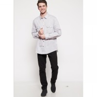 The - Fahrenheit Salerno Long Sleeves Men Shirt - Grey