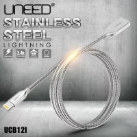 Uneed Kabel Apple iPhone Lightning Stainless Data Charger Cable UCB12I