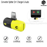 Converter Splitter 2in1 Charging Adapter & Audio Music for iPhone X/7/7+/8/8+