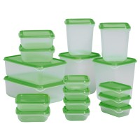 IKEA (R) - PRUTA - Container Food Set of 17 BPA Free - Lunch Box - Tempat Makan