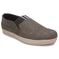 Dr. Kevin Sepatu Pria Kasual Men Casual Shoes 13378 - (2 Color Options) Coklat Abu-Abu