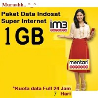 Paket Internet Indosat 1 GB + Unlimited Apps, 24 jam 7 Hari