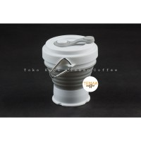 Silicone Collapsible Cup Grey