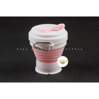 Silicone Collapsible Cup Pink