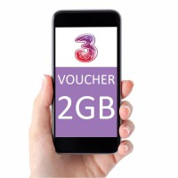 voucher Tri three 2GB Paket Data Internet Kuota 2 GB