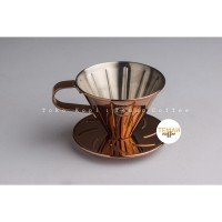 Tiamo V60 Stainless Steel Dripper Size 01