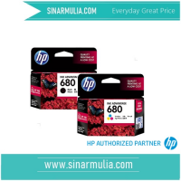 HP 680 black dan tricolour Original satu set