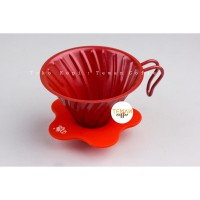 DIGUO V60 Metal Dripper Red Size 02