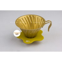 DIGUO V60 Metal Dripper Gold Size 02