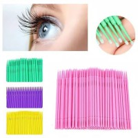 100pcs Mikro Brush for Eyelash Extension Sikat Bulu Mata Remover Lash