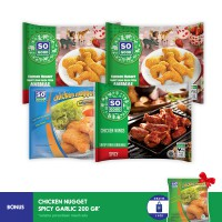 SO GOOD DOUBLEMAX ANIMAL NUGGET 1 (4PCS) (FREE ONGKIR) + FREE GARLIC NUGGET 200GR*