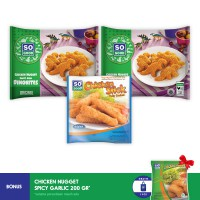 SO GOOD DOUBLEMAX DINOBITES 3 (3PCS) (FREE ONGKIR) + FREE GARLIC NUGGET 200GR*