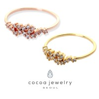 Cocoa Jewelry Cincin Skinny Crown Rose Gold & Gold Color