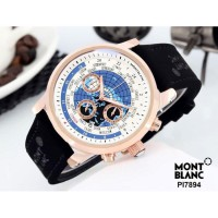 Jam Tangan Pria Montblanc Chrono ON 02 Leather Black