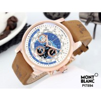 Jam Tangan Pria Montblanc Chrono ON 02 Leather Light Brown