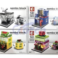 Mainan Lego Sembo Fruit Shop Flower Shop Pepsi Louis