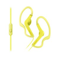 Sony Sports In-Ear Headphones with Mic MDR-AS210AP - Kuning Kabel