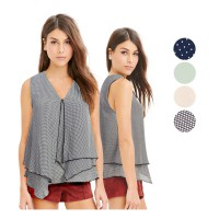 New! Women Branded Blouse Sleeveless / 4 Color / Baju Wanita / Pakaian Wanita