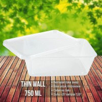 ISI 25 PC ThinWall 750ML - Kontainer Makanan 750ML - Kotak Makanan - Take Away