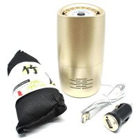 Bottle Car Air Purifier Ionizer With Bamboo Charcoal - Pengharum Mobil