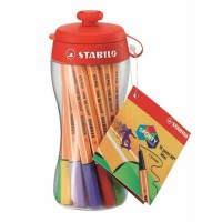 STABILO Pen Warna Point 88 Mini Sporty Colors Kemasan Botol Minum(Multicolor)