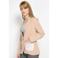 Mobile Power Ladies Cocoa Blazzer Lacey - Brown MR804