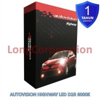 Autovision Highway LED D2R 12V 6000K Putih Advance CSP Lampu Mobil Alphard All New Civic All New Stream Juke Lexus Avalon Steam Camry Noah Mazda