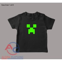Kaos Anak Logo Minecraft - Exclusive
